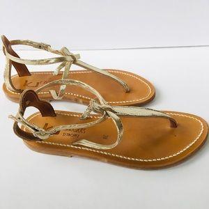 K.Jacques gold metallic sandals